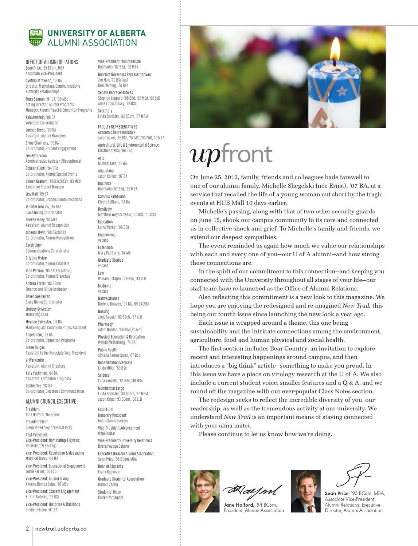 New Trail Autumn 2012 by University of Alberta Alumni - issuu