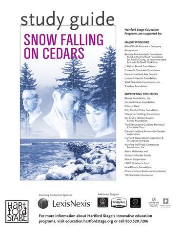 Study Guide Snow Falling On Cedar By Hartford Stage Issuu Argumentative Essay Cedars