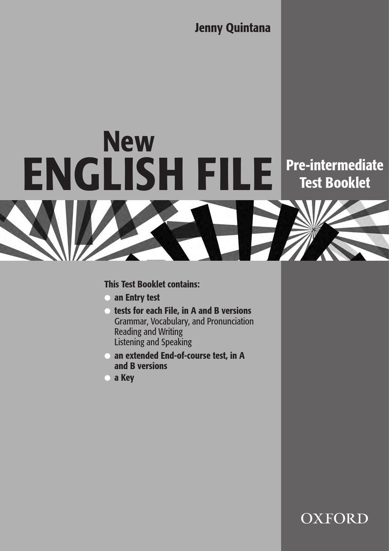 Search New English File Pre-Intermediate Test