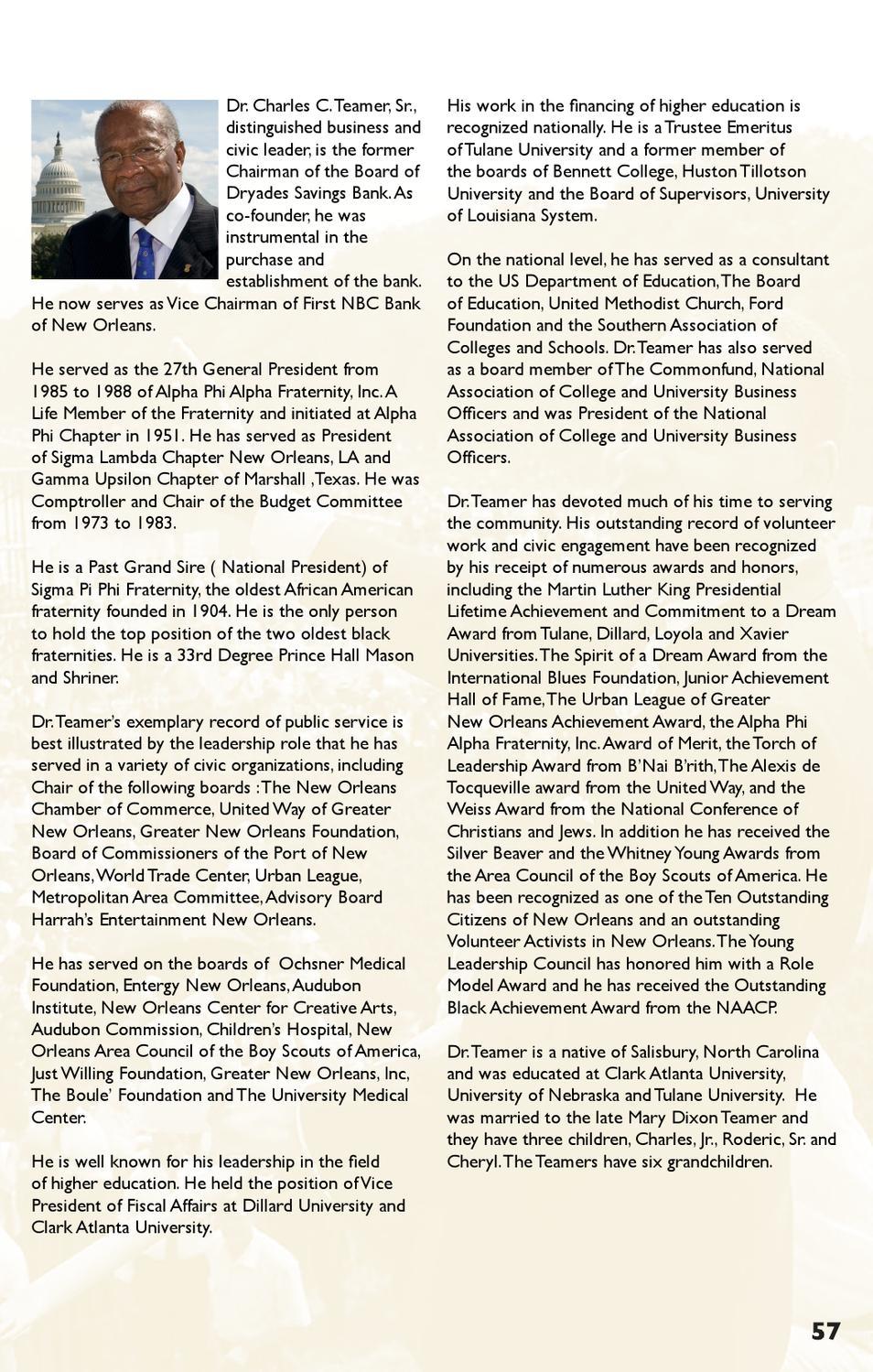 MLK Memorial Dedication Souvenir Journal by Alpha Phi Alpha