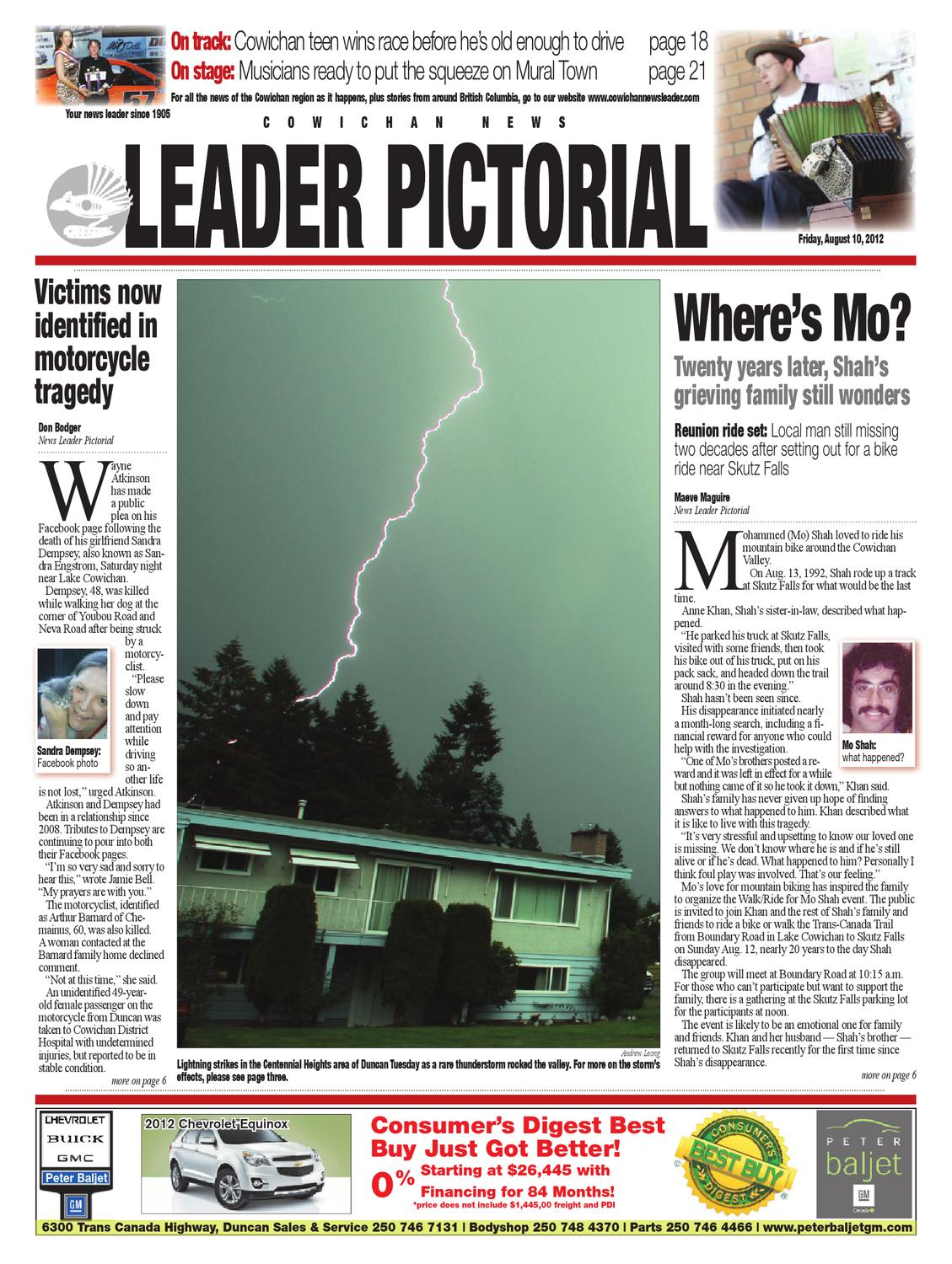 Cowichan News Leader Pictorial August 10 2012 By Black Press