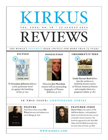 August 15 2012 volume lxxx no 16 by kirkus reviews issuu page 1 fandeluxe Image collections