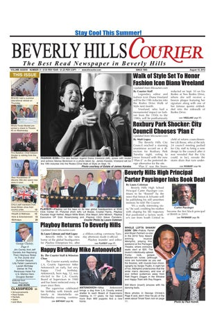 BH Courier 08-10-2012 E-edition by The Beverly Hills Courier