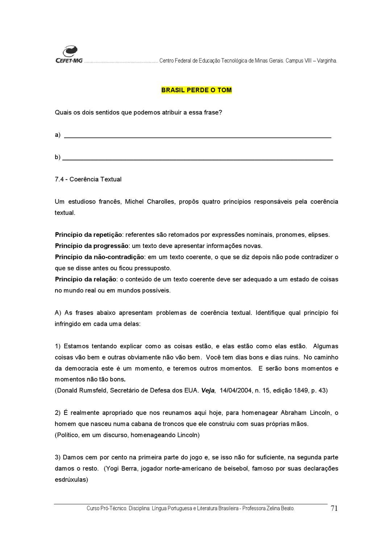 2985377 Apostila Portugues E Literatura Cefet Pdf By Fonseca Dos