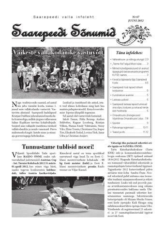 e885153b980 Saarepeedi Sõnumid juuni 2012 by Saarepeedi vald - issuu