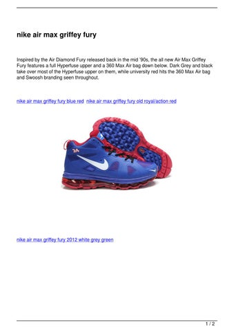 online store 98f45 4c7bb Page 1. nike air max griffey fury