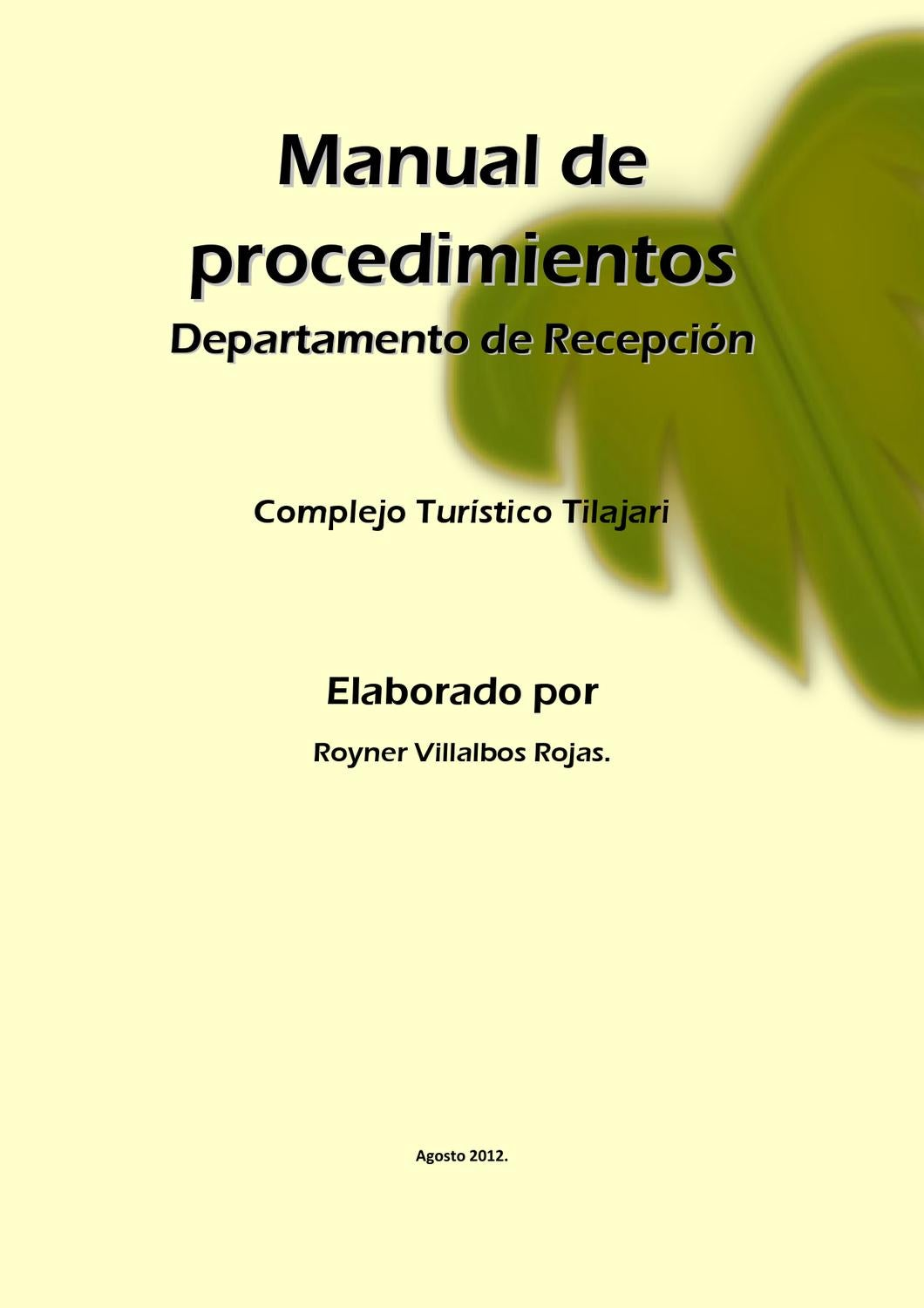 manual de seguridad personal pdf