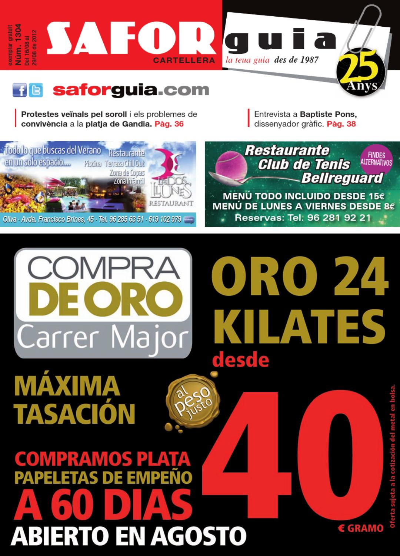 Edici N Del 16 Al 29 D Agost De 2012 By Saforguia Mediaserviocio  # Muebles Peiro Quart De Poblet