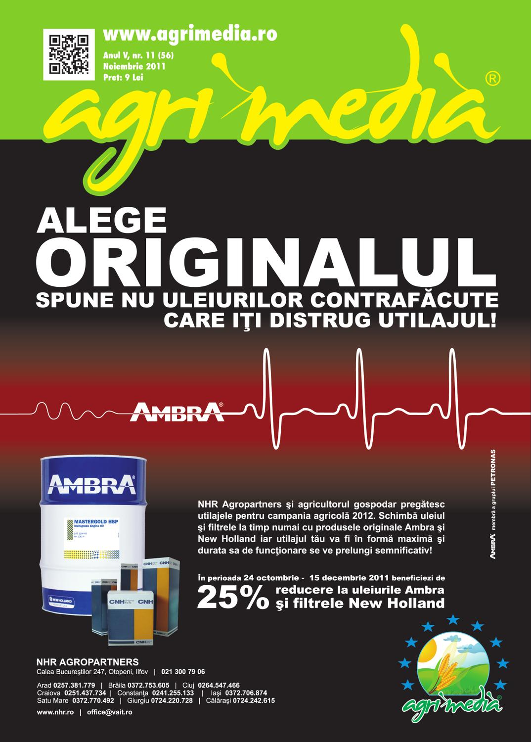 Revista AGRIMEDIA Noiembrie 2011 by Agri Media Invest s r l