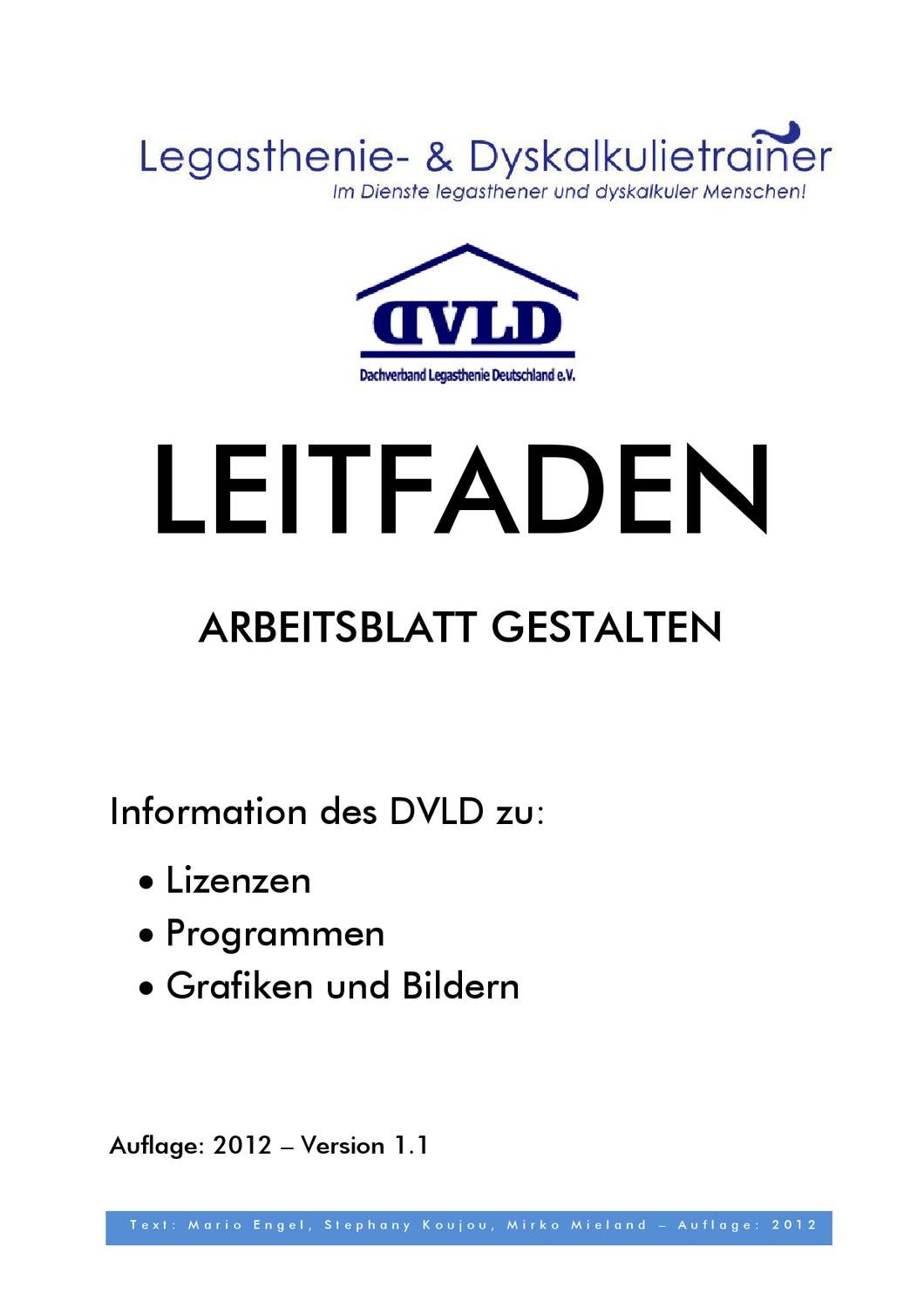 Leitfaden Arbeitsblatt gestalten by Dyslexia Research Center - issuu
