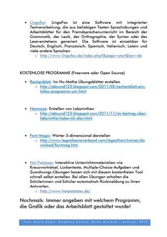 Leitfaden Arbeitsblatt gestalten by Dyslexia Research Center - issuu