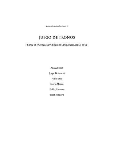 Juego De Tronos By Iván Bort Gual Issuu