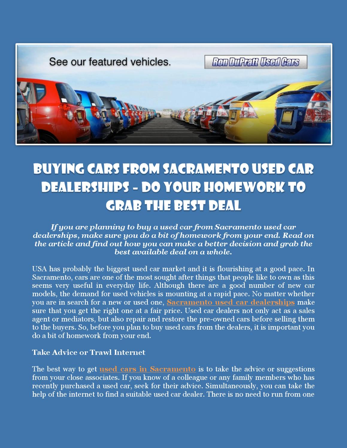 Dealerships That Buy Cars >> Buying Cars From Sacramento Used Car Dealerships Do Your