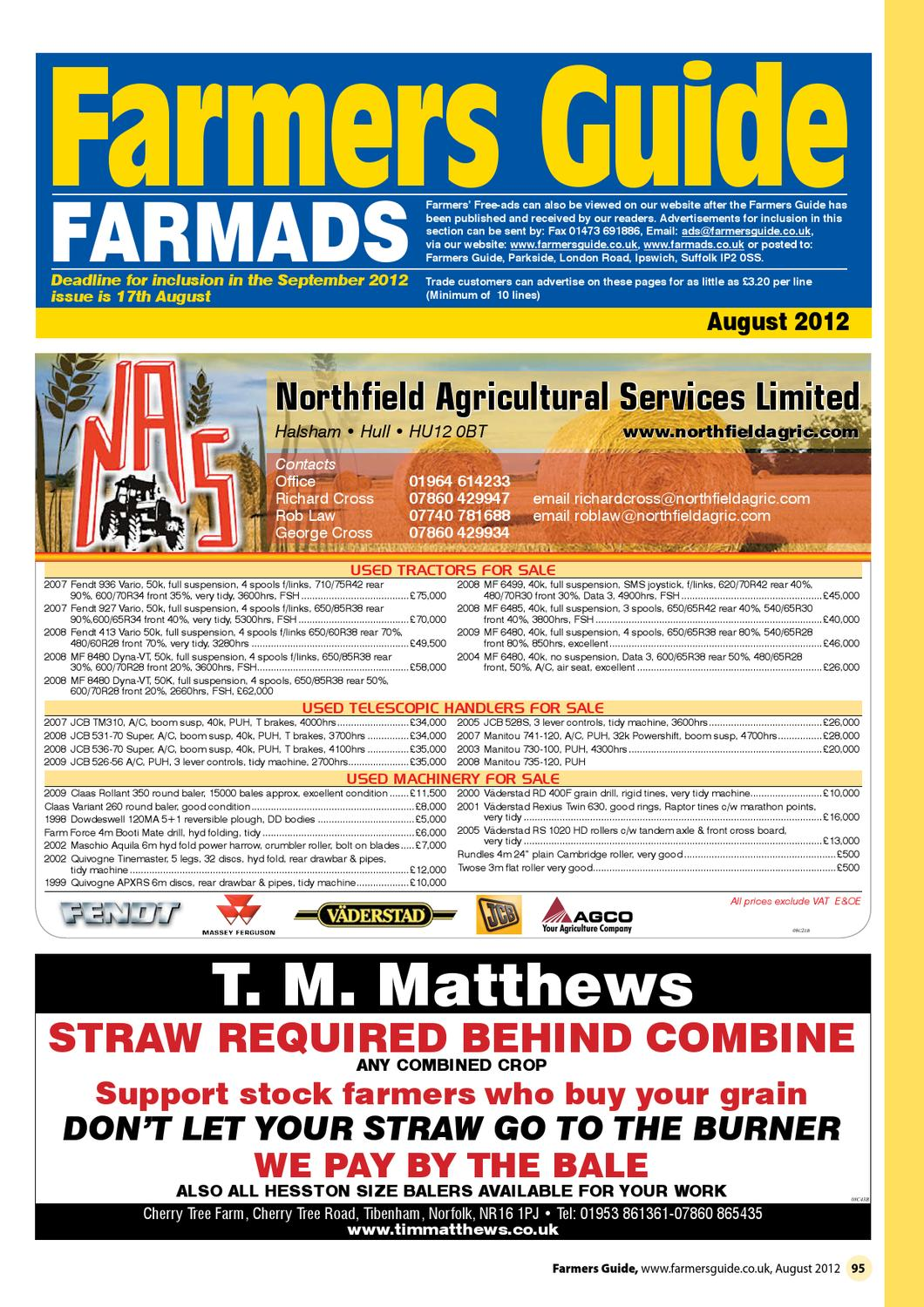 ceed38c0f8 Farmers Guide Classified section Aug 2012 by Farmers Guide - issuu