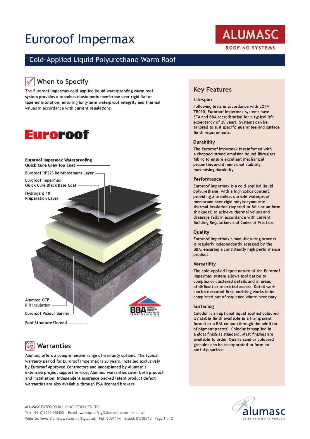 Ss14 Euroroofimpermax Warm Liquid Cold By Alumasc Exterior