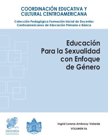 Educación para la sexualidad con enfoque de género by CECC SICA - issuu