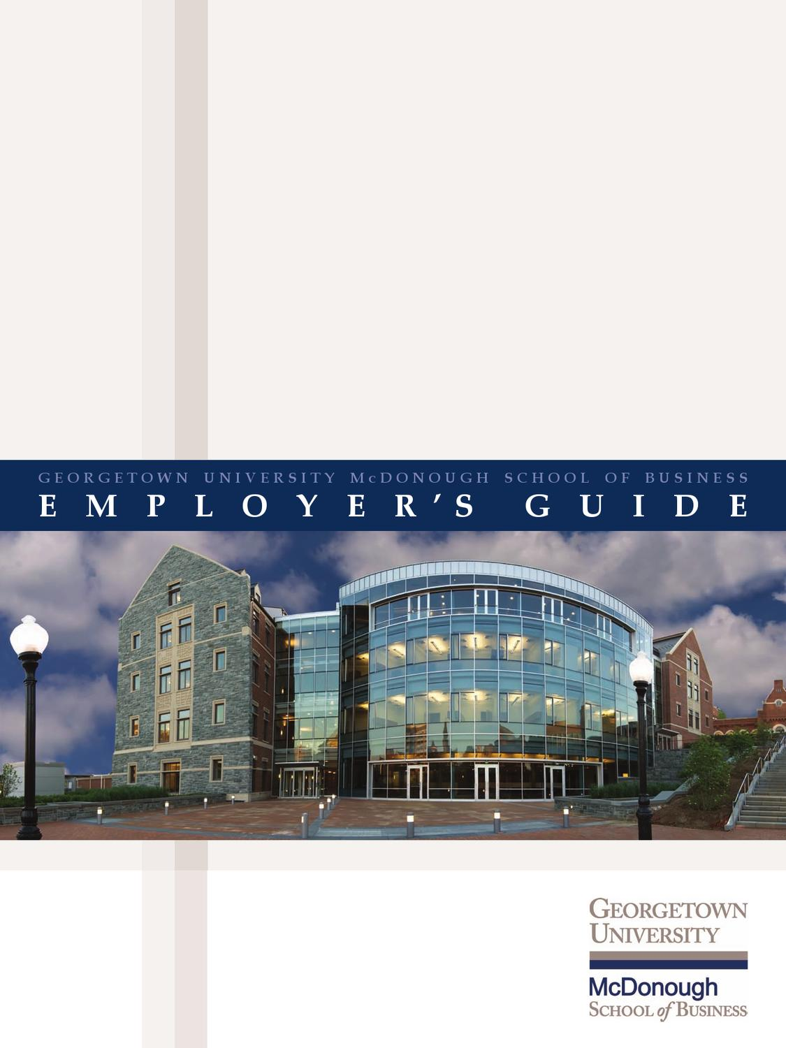 MBA Employer's Guide by Georgetown University McDonough ...