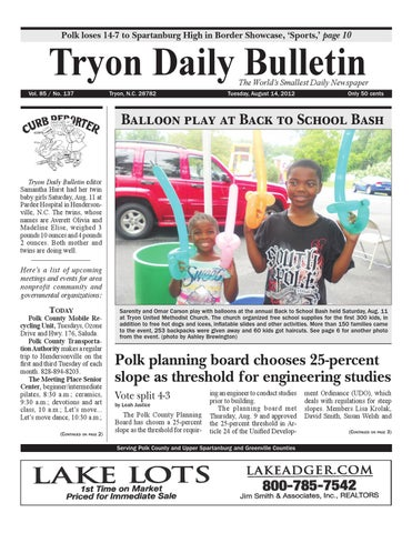 8-14-12 Bulletin by Tryon Daily Bulletin - issuu