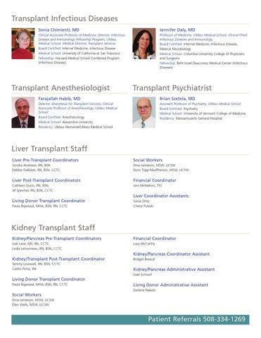Organ Transplant by UMass Memorial Medical Center - issuu