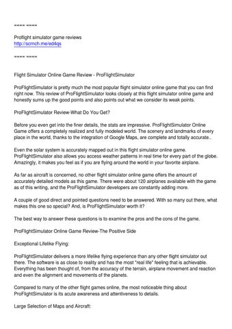 Flight Game review by randy baith - issuu