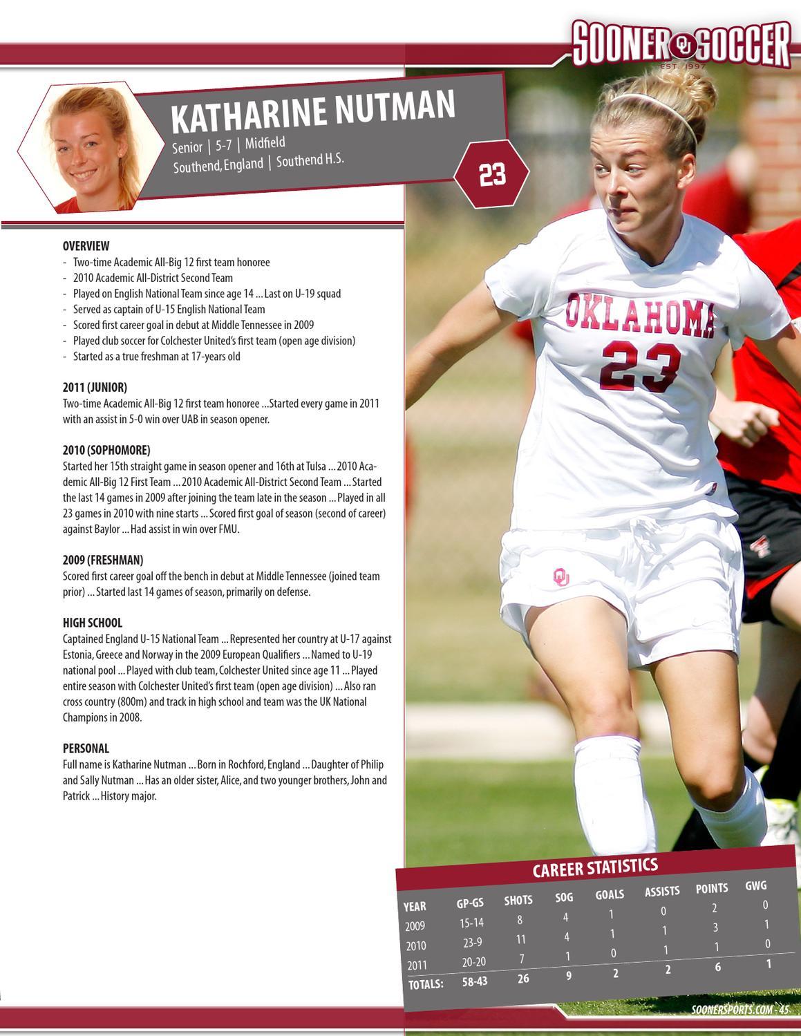 2012 Oklahoma Soccer Media Guide By Ou Athletics Issuu