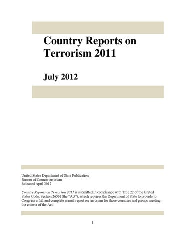 Country reports on terrorism 2011 by Open Briefing - issuu