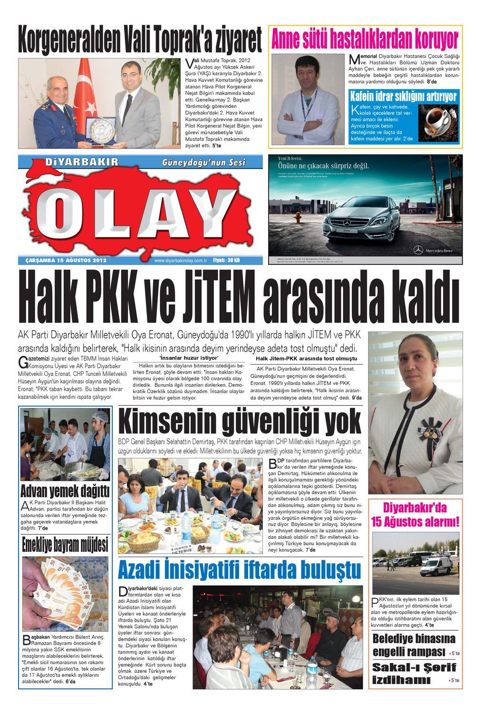 15 08 2012 Gazete Sayfalari By Diyarbakir Olaygazetesi Issuu