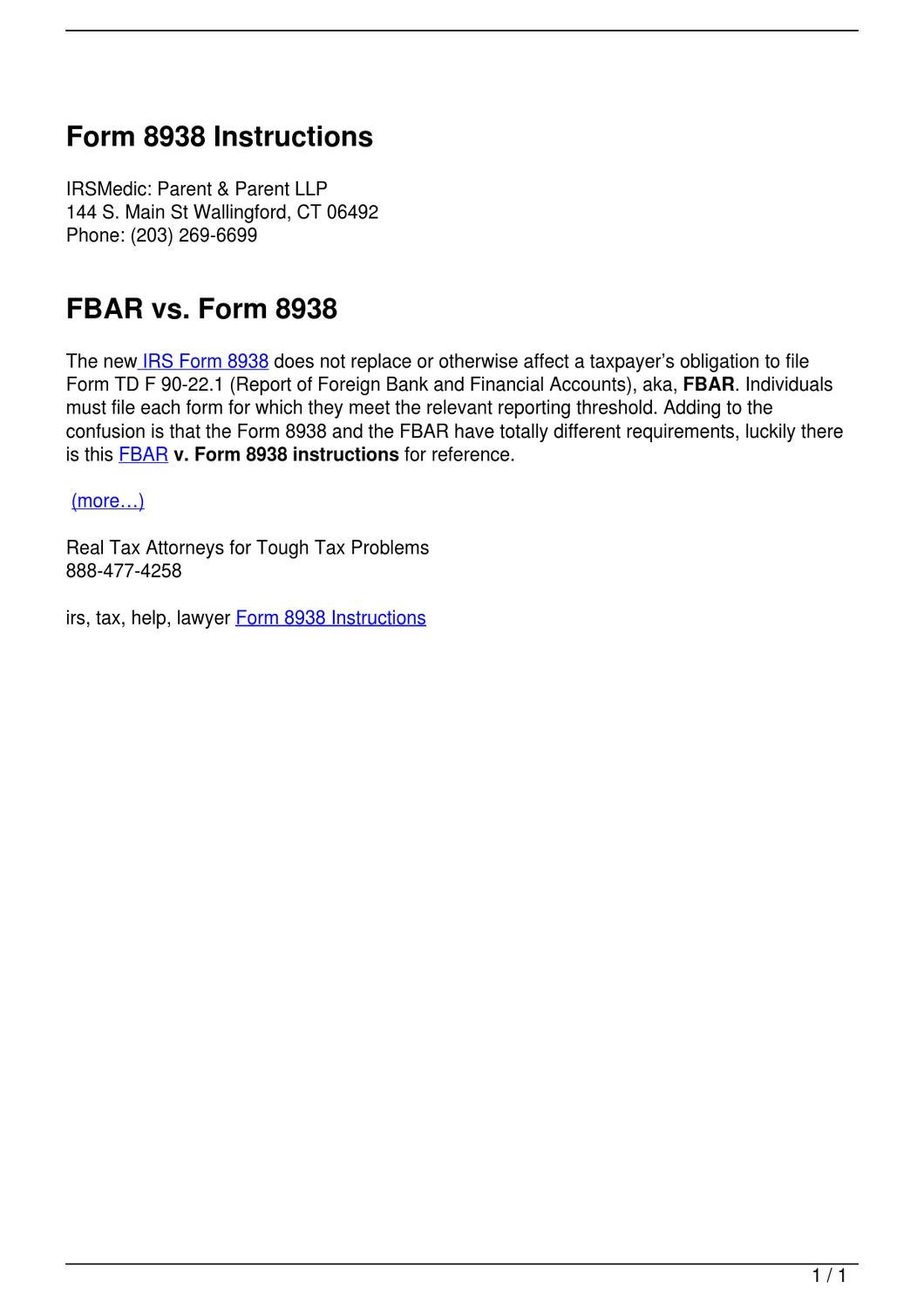 Form 8938 instructions by anthony parent issuu falaconquin