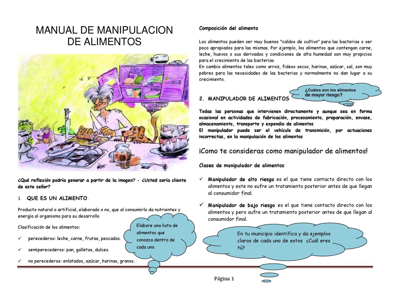 Actividad manual de manipulacion by articulacion lagranja issuu - Carne manipulacion de alimentos ...