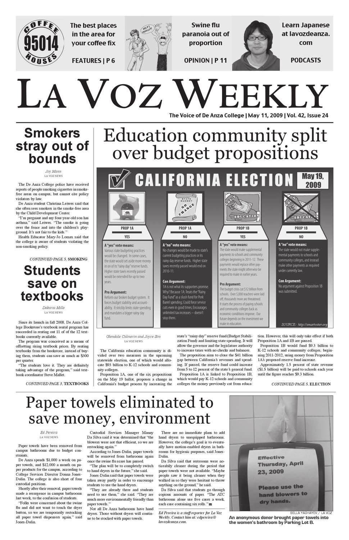 7c6dabce92 Issue 24 Spring 2009 by La Voz News - issuu