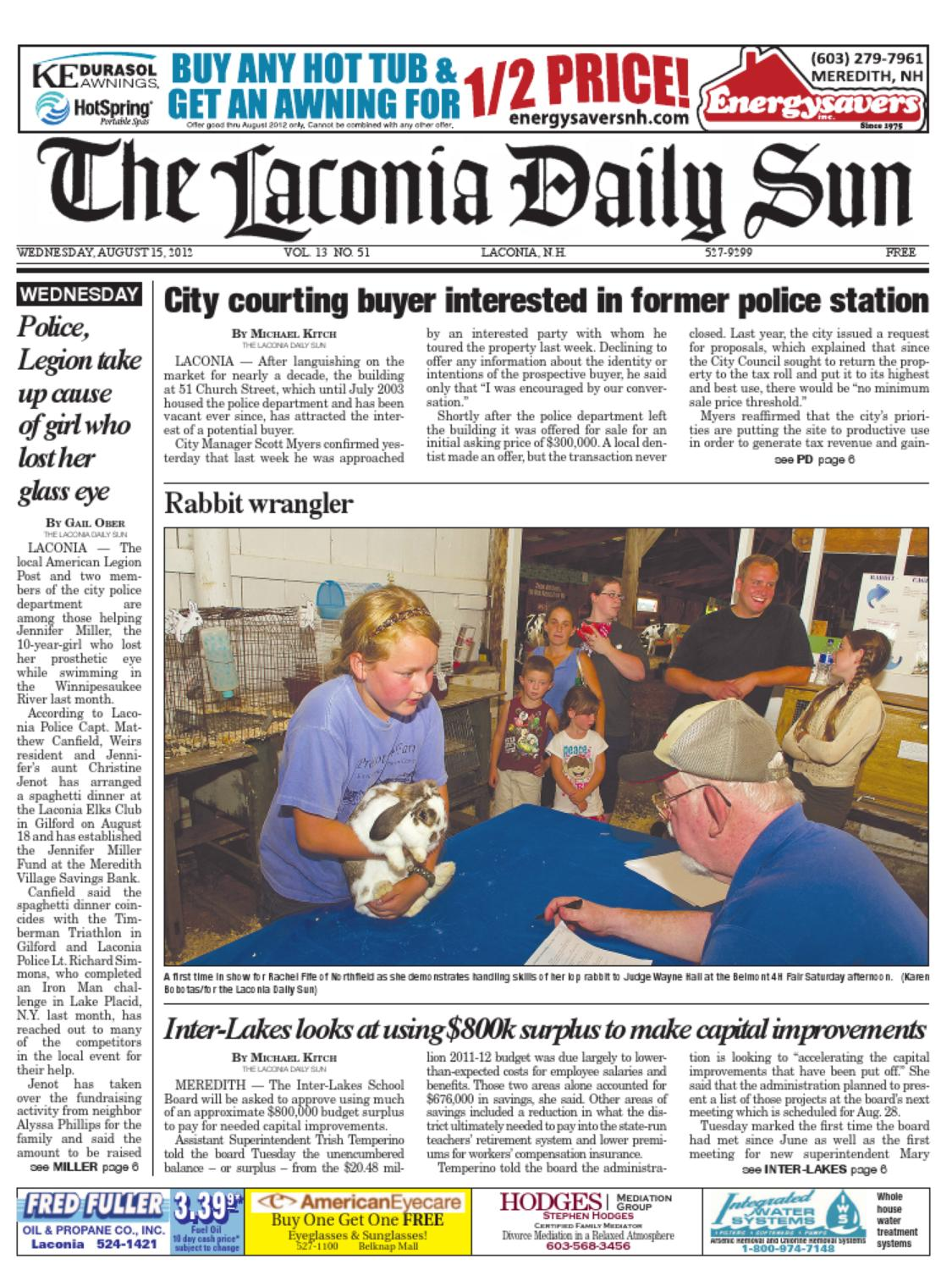 The Laconia Daily Sun, August 15, 2012 by Daily Sun - issuu