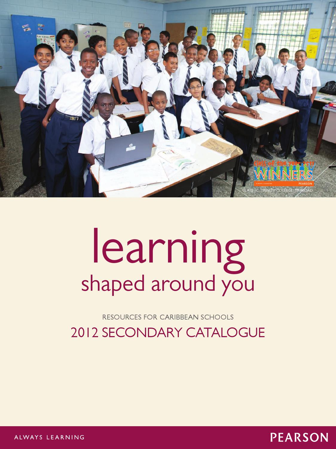 Pearson Caribbean secondary catalogue 2012 by Pearson Caribbean – Addison-wesley Publishing Company Worksheet Answers