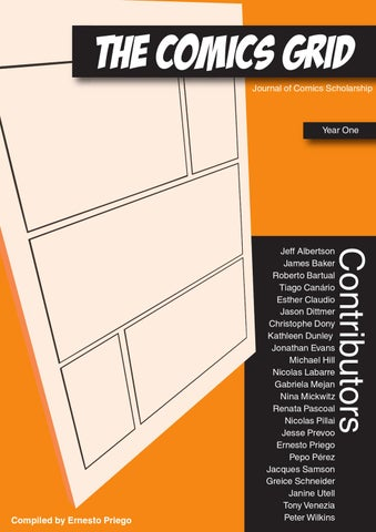 The Comics Grid Journal Of Comics Scholarship Year One Preview