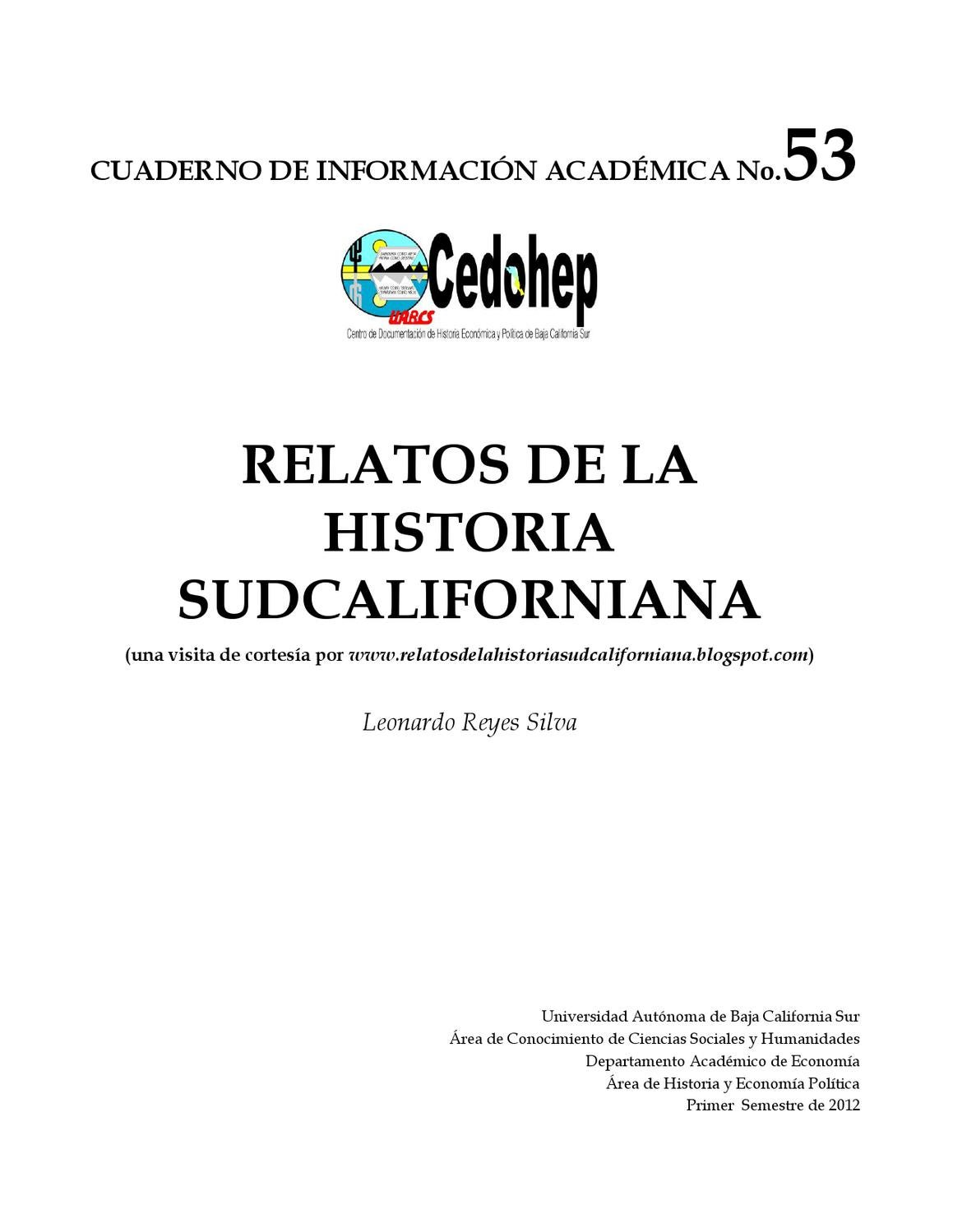 HISTORIAS SUDCALIFORNIANAS by Ricardo Torres - issuu