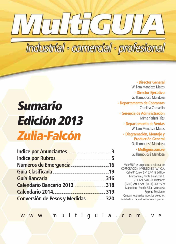 MultiGUIA Zulia-Falcón Edición 2013 by multiguia - issuu