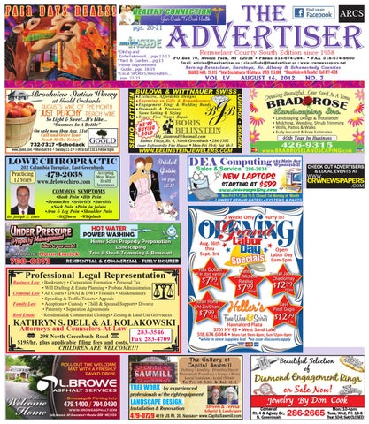 Advertiser south 081612 by capital region weekly newspapers issuu page 1 fandeluxe Gallery