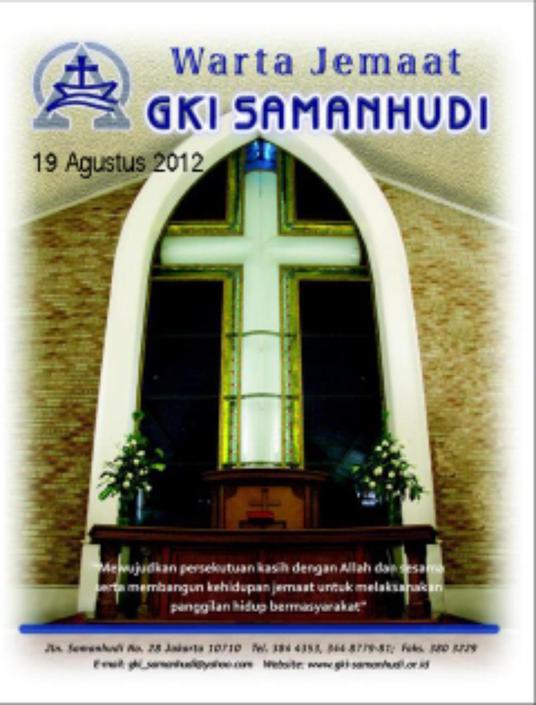 Warta Jemaat GKI Samanhudi 19 Agustus 2012 by Hendri ...