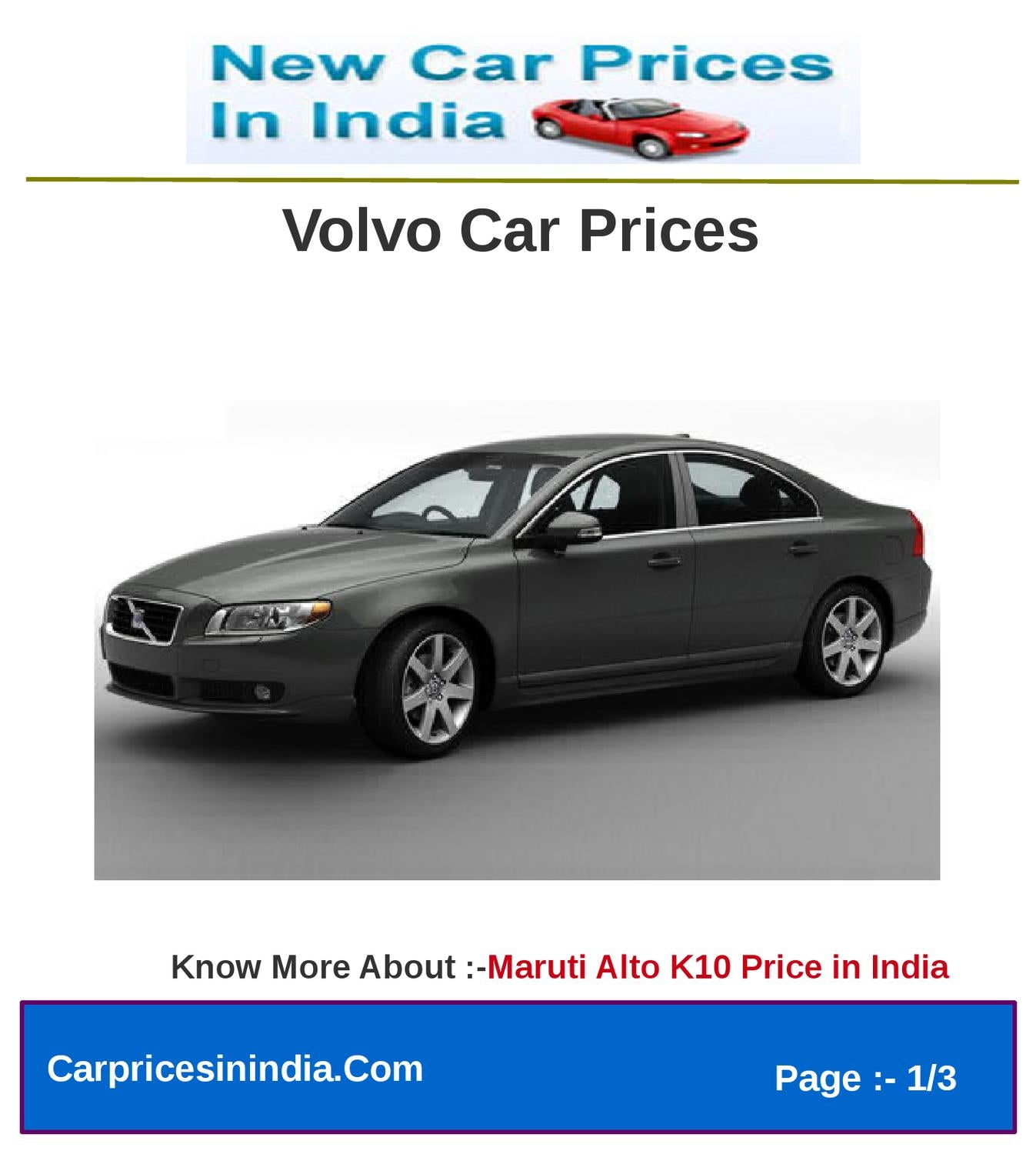 Volvo Pricing: Volvo Car Prices By Microsite Team