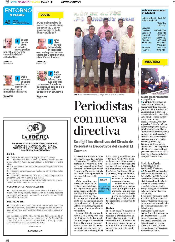 Edicion impresa Santo Domingo del 16 de agosto de 2012 by Diario La ...