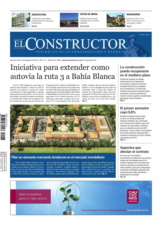 El Constructor 06 08 2012 A O 111 N 4925 By Elco Editores  # Pehuen Muebles Pilar