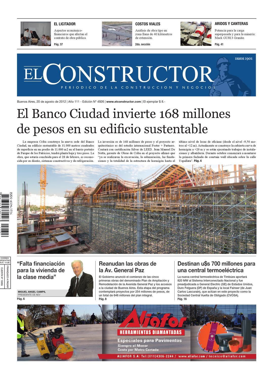 EL CONSTRUCTOR - 20/08/2012 - Año 111 - Nº 4926 by ELCO Editores - issuu