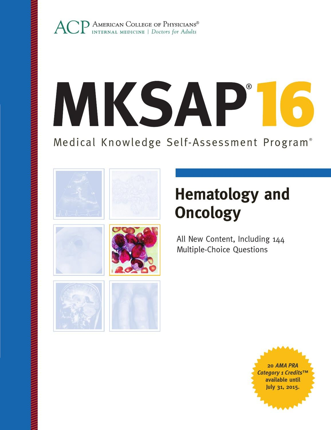 MKSAP 16 Sample - Hematology and Oncology by American College of