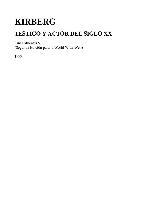 Kirberg Testigo y Actor del S.XX by Nieves Hernández - issuu