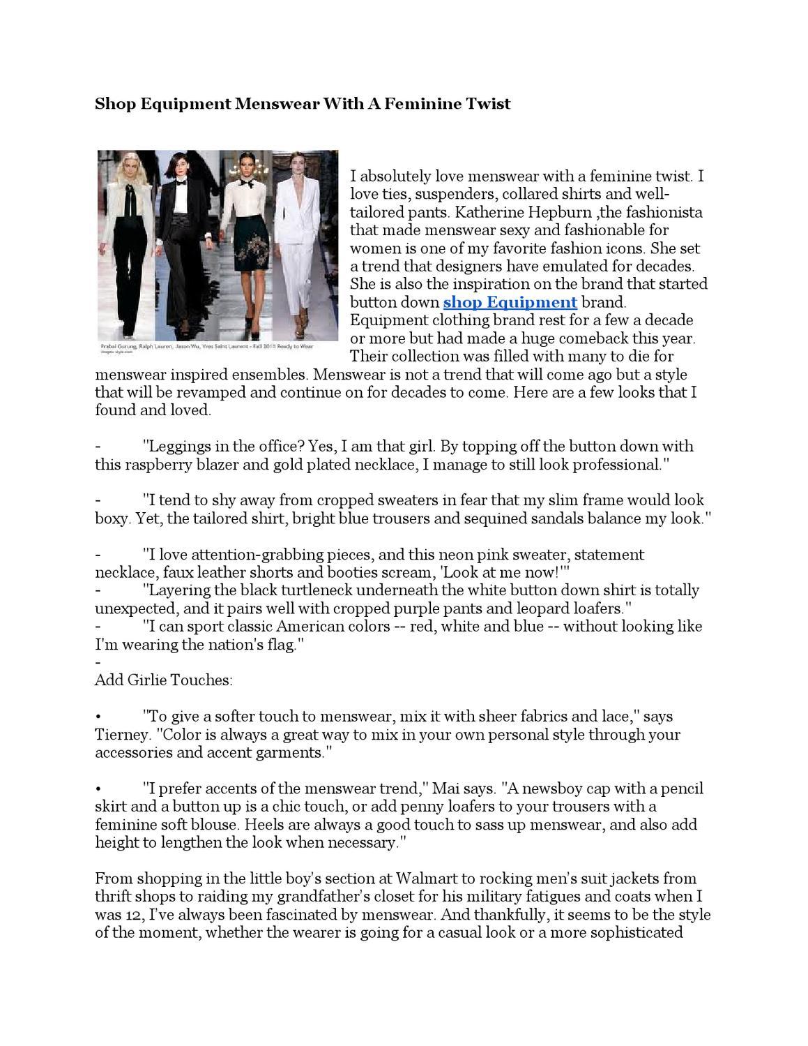 e9dd8119baa53 Shop Equipment Menswear With A Feminine Twist by Jubilee Grace - issuu
