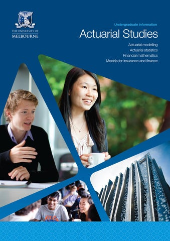 Actuarial Studies brochure 2012 by The Faculty of Business