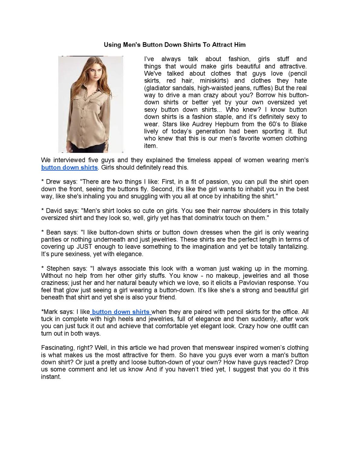 f3dc56524 Using Men s Button Down Shirts To Attract Him by Michelle Young - issuu