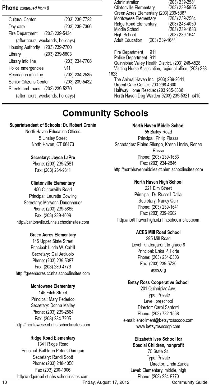 North Haven Citizen Community Guide 2012 By North Haven Issuu
