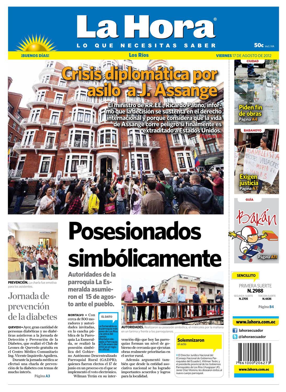 d6e56556a3284 Edicion impresa Los Rios del 17 de agosto de 2012 by Diario La Hora Ecuador  - issuu