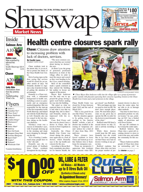 Salmon Arm Observer, August 17, 2012 by Black Press Media