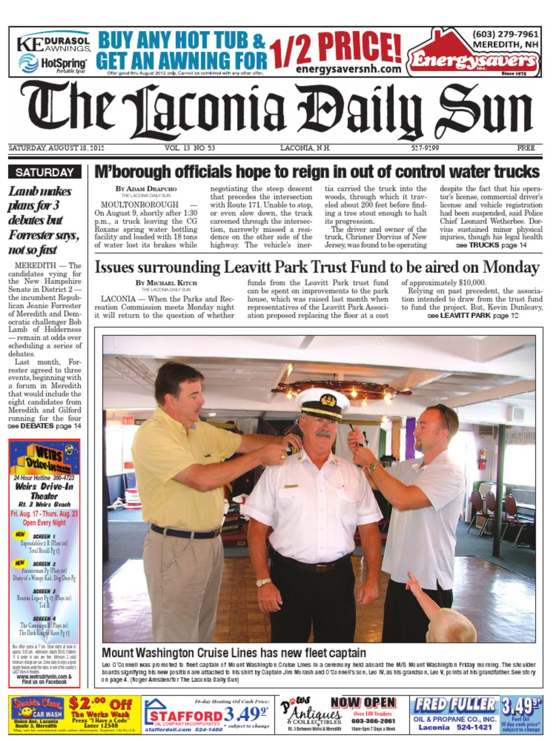 The Laconia Daily Sun August 18 2012 By Issuu Speaker Diablo Vx 603 Dw